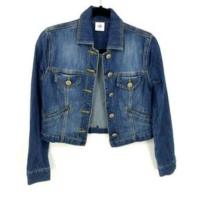 Cabi Cropped Denim Dakota Jean Jacket NO LACE 5297